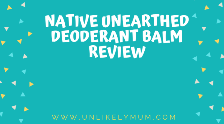 Native Unearthed charcoal deodorant balm review