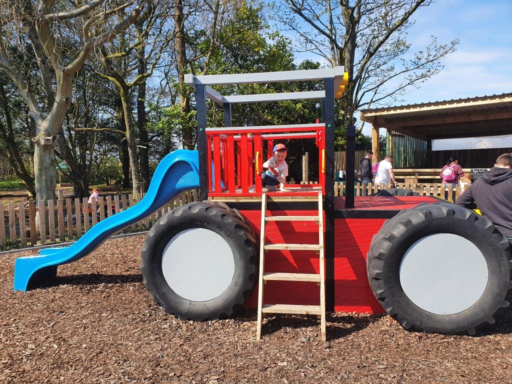 tractor-slide-at-montys-farm-park